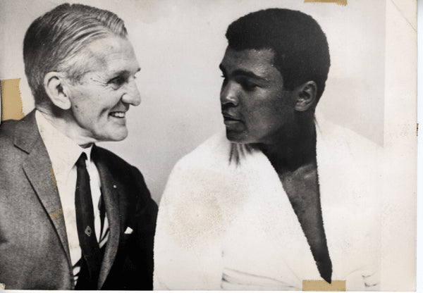 ALI, MUHAMMAD & GEORGES CARPENTIER WIRE PHOTO