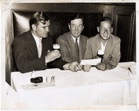 BRADDOCK, JIMMY & JOE GOULD & JIMMY JOHNSTON WIRE PHOTO