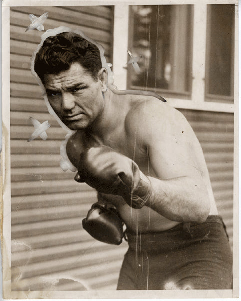 DEMPSEY, JACK-GENE TUNNEY II WIRE PHOTO (1927)