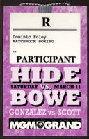 BOWE, RIDDICK-HERBIE HIDE CREDENTIAL (1995)