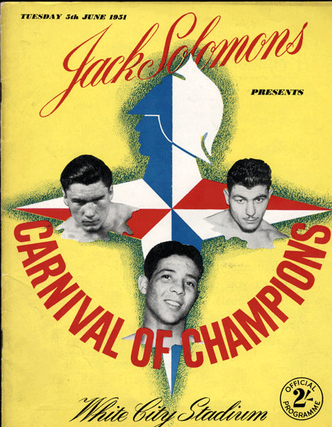CARNIVAL OF CHAMPIONS OFFICIAL PROGRAM (1951-TURPIN, COCKELL)