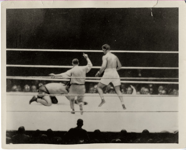 DEMPSEY, JACK-LUIS FIRPO WIRE PHOTO (1923)