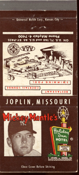 MANTLE, MICKEY HOLIDAY INN MATCHBOOK