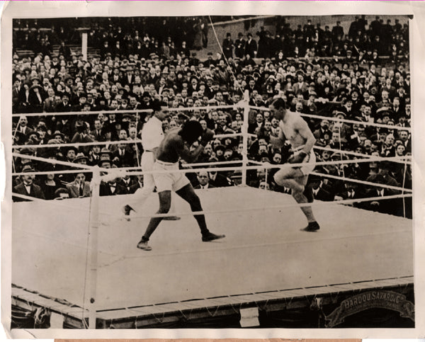 CARPENTIER, GEORGES-BATTLING SIKI ORIGINAL ANTIQUE WIRE PHOTO (1922)