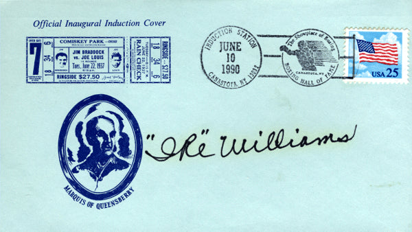 WILLIAMS, IKE SIGNED FIRST DAY COVER