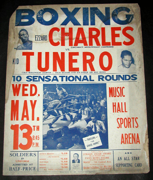 CHARLES, EZZARD-KID TUNERO ON SITE POSTER (1942)