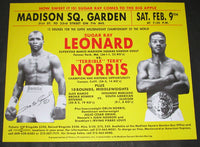 LEONARD, SUGAR RAY-TERRY NORRIS SIGNED ON SITE POSTER (1991-SIGNED BY LEONARD)
