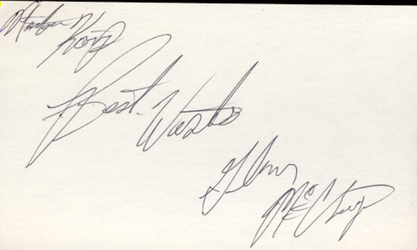 MCCRORY, GLEN SIGNED INDEX CARD