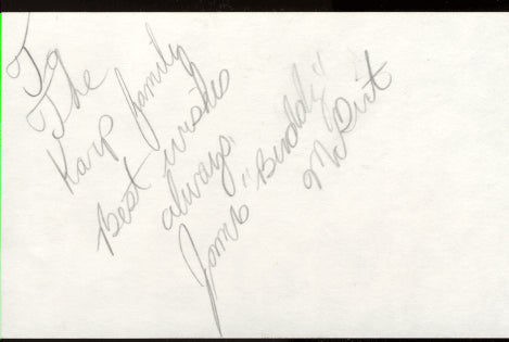 MCGIRT, BUDDY SIGNED INDEX CARD