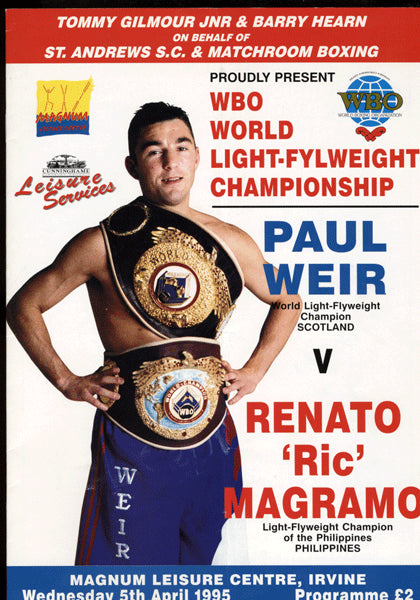 WEIR, PAUL-RIC MAGRAMO OFFICIAL PROGRAM (1995)