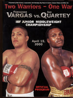 VARGAS, FERNANDO-IKE QUARTEY OFFICIAL PROGRAM (2000)