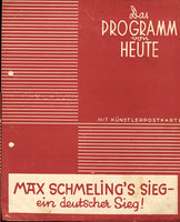 SCHMELING, MAX GERMAN PROMTIONAL PROGRAM (MID 1930'S)