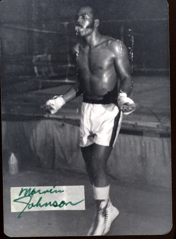 JOHNSON, MARVIN SIGNED PHOTO