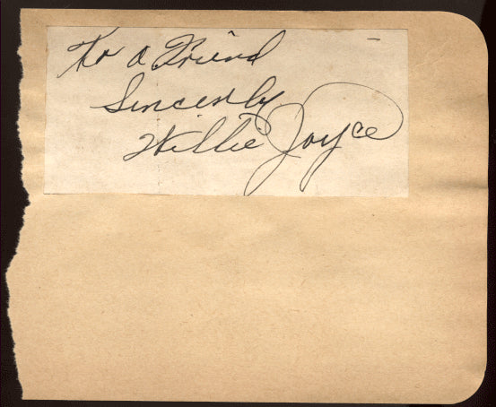 JOYCE, WILLIE INK SIGNATURE
