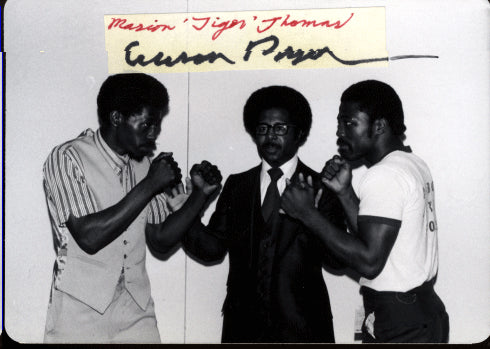 PRYOR, AARON SIGNED PHOTO WITH MARION THOMAS