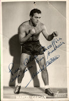 CERDAN, MARCEL SIGNED PHOTO
