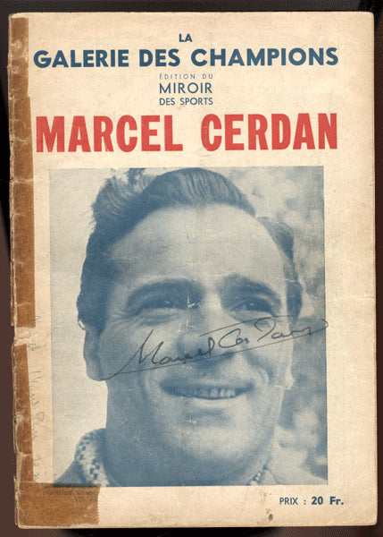 CERDAN, MARCEL SIGNED FRENCH MAGAZINE
