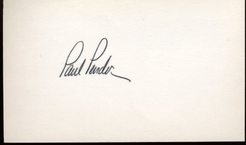 PENDER, PAUL INK SIGNED INDEX CARD