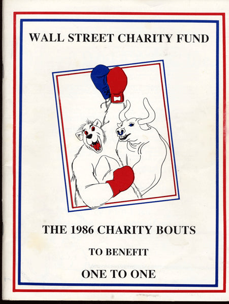 1986 CHARITY SIGNED PROGRAM (TYSON, GRAZIANO, ARCEL, LAMOTTA ETC.)