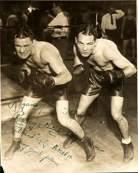 PERLICK, Henry & HERMAN PERLICK SIGNED PHOTO (TO RAY ARCEL)