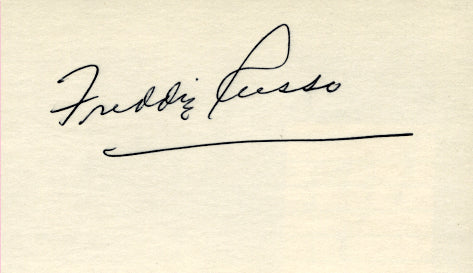 RUSSO, FREDDIE SIGNED INDEX CARD