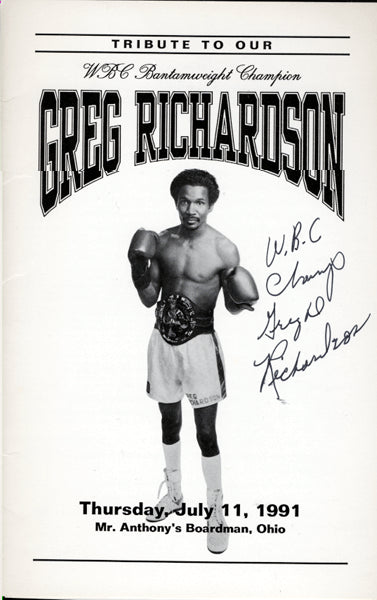 RICHARDSON, GREG SIGNED TRIBUTE PROGRAM