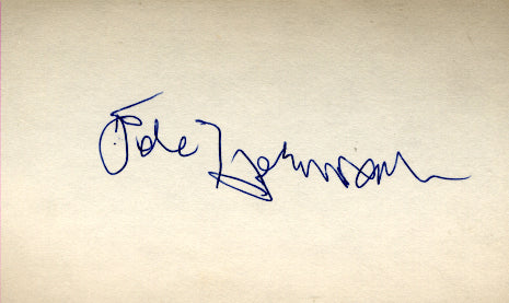 HERMAN, PETE SIGNED INDEX CARD