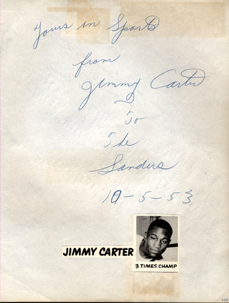 CARTER, JIMMY SIGNED ALBUM PAGE