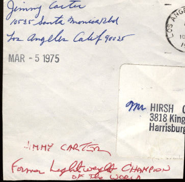 CARTER, JIMMY INK SIGNATURE