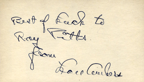 AMBERS, LOU SIGNED INDEX CARD