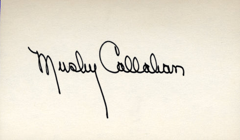 CALLAHAN, MUSHY SIGNED INDEX CARD