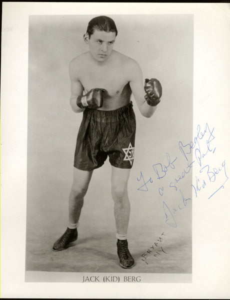 "BERG, JACKIE ""KID"" SIGNED PHOTO"