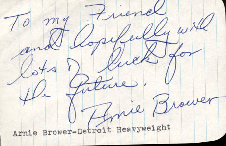 BROWER, ARNIE INK SIGNATURE