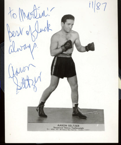 SELTZER, AARON SIGNED PHOTO