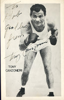 CANZONERI, TONY SIGNED PHOTO POSTCARD