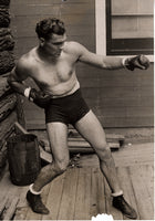 DEMPSEY, JACK ORIGINAL ANTIQUE PHOTO (1920-TRAINING FOR BRENNAN)