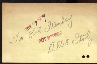 STOLZ, ALLIE PENCIL SIGNATURE
