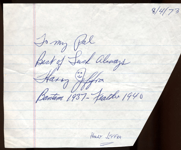 JEFFRA, HARRY INK SIGNATURE