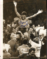 SPINKS, LEON SIGNED WIRE PHOTO