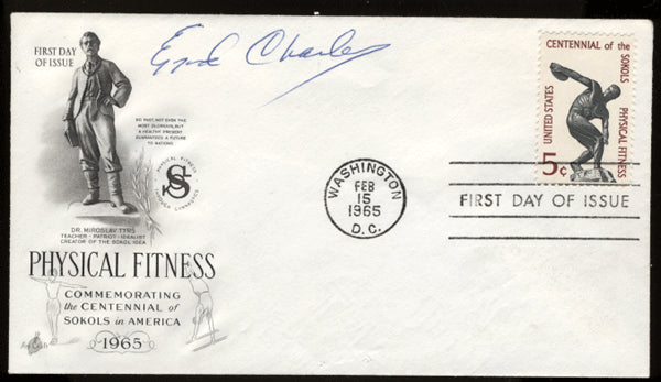 CHARLES, EZZARD SIGNED FIRST DAY COVER