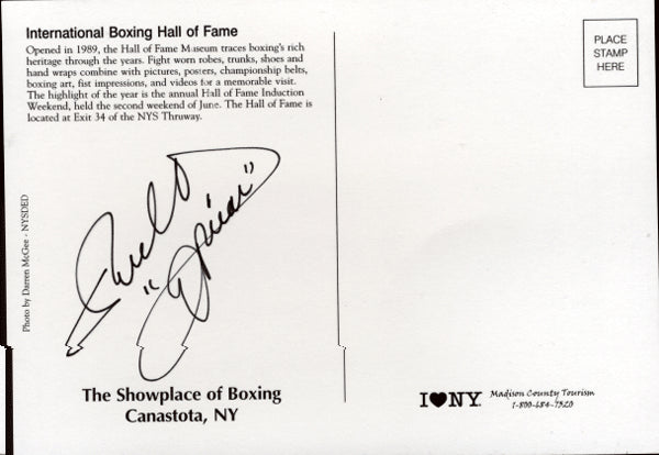 OLIVARES, RUBEN SIGNED HALL OF FAME POSTCARD
