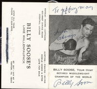 SOOSE, BILLY SIGNED BUSINESS CARD