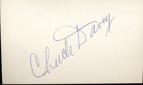 DAVEY, CHUCK SIGNED INDEX CARD