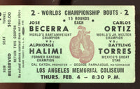 ORTIZ, CARLOS-BATTLING TORRES STUBLESS TICKET (1960)