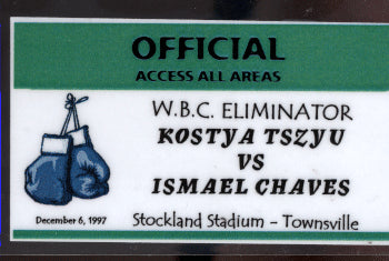 TSZYU, KOSTYA-ISMAEL CHAVES CREDENTIAL (1997-USED BY ARTHUR MERCANTE SR.)