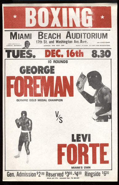 FOREMAN, GEORGE-LEVI FORTE ON SITE BROADSIDE (1969)