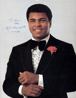 ALI, MUHAMMAD SIGNED PHOTO (THOMAS HAUSER LOA)