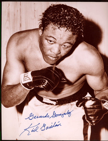 GAVILAN, KID SIGNED PHOTO (SIGNED WITH REAL NAME-GERALDO GONZALEZ)