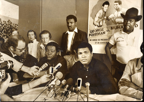 ALI, MUHAMMAD WIRE PHOTO (1974-BEFORE FOREMAN FIGHT)