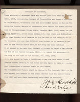 GODDARD, JOE SIGNED CONTRACT (1898-KID MCCOY FIGHT)